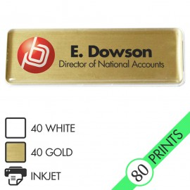 Mighty Badge Starter Pack - Gold - for inkjet printers
