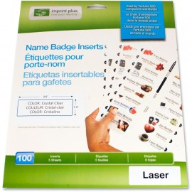 The Mighty Badge™ Transparent LASER Inserts [100 pack]