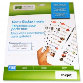 The Mighty Badge™ Transparent INKJET Inserts [100 pack]