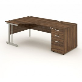 Impulse Cantilever Workstation with 800mm Pedestal