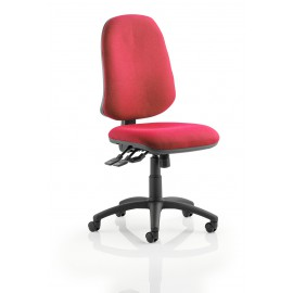 Eclipse XL III Lever Task Operator Chair Wine Without Arms